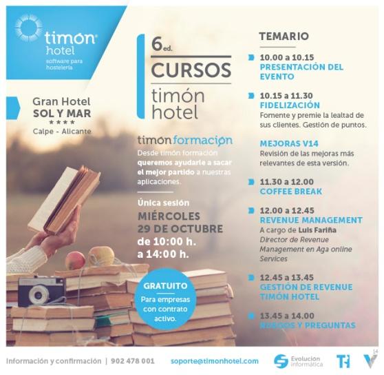 6ed. Cursos Timón Hotel 29 octubre 2014 Calpe, Alicante